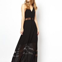 Jarlo Sienna Maxi Dress with Lace Hem Insert