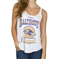 Junk Food Baltimore Ravens Ladies Touchdown Tank Top - White