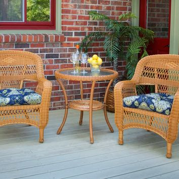 Portside Bistro 3 Piece Wicker Seating Set by Tortuga Outdoors