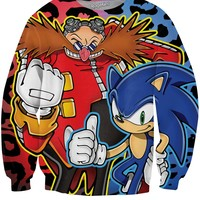 Sonic and Dr. Robotnik Crewneck Sweatshirt