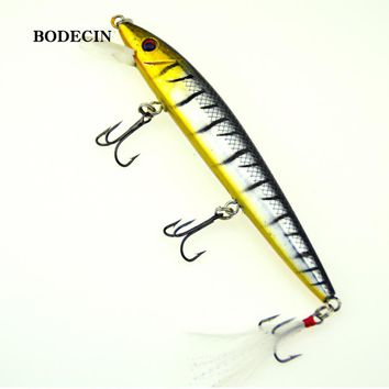 1PCS yo-zuri Minnow Wobblers Artificial Fishing Lure Trolling Lures Wobbler Bait For Crazy Fish Sea Tackle Peche Swimbait 12CM