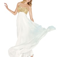 Long Strapless Prom and Graduation Dress 35577