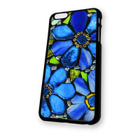 Blue Flowers Stained Glass iPhone 6 Plus case