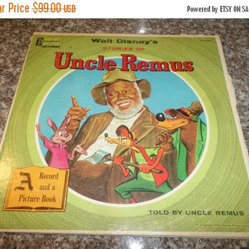 Save 70% Today Rare Vintage 1957 Vinyl LP Record Walt Disney's Stories of Uncle Remus with Original Picture Book