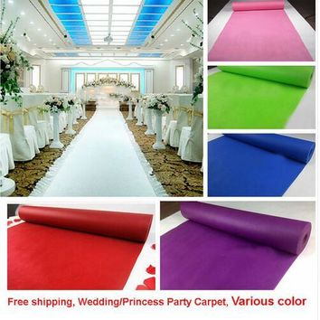 Cheap Quality 0.5mm thickness Wedding Party Carpet Rug Aisle Runner Decoration Nonwoven 80cmx10m one time use