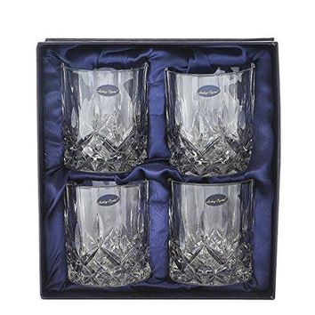 Amlong Crystal Lead Free Double Wall Glass  Old Fashioned Whiskey Glasses Classic Scotch Whiskey Glasses Vodka Rocks Glasses Lowball Glasses for Liquor 8 Ounce Set of 2