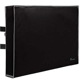 "Outdoor TV Cover 52""-55"" inch - Universal Weatherproof Protector for Flat Screen TVs - Fits most TV Mounts and Stands - Black"