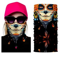 2018 Party Festival Game Biker Skull Masks sports Moto Biker face shield USA Mexico Neck Warmer Ghost Face Mask Scarves Bandanas