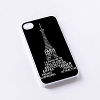 PARIS Eiffel Tower quote iPhone 4/4S, 5/5S, 5C,6,6plus,and Samsung s3,s4,s5,s6