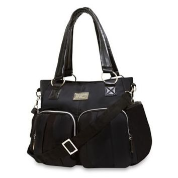Wendy Bellissimo™ Black Shirred Pocket Diaper Bag