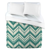 Deny Designs Heather Dutton Weathered Chevron Duvet Cover | www.hayneedle.com