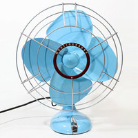 Refurbished Vintage Westinghouse Blue Oscillating Electric Fan