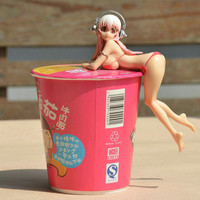 Anime Super Sonico Alter Ver. Sexy Girl Figure PVC Collection Model Toy Action & Toy Figures Christmas hat Pressure cup noodles