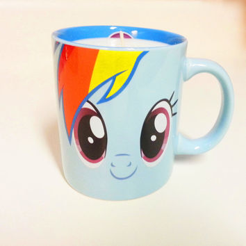 Rainbow Dash Soy Candle 12 oz - My Little Pony Mug Candle - CHOICE OF SCENT