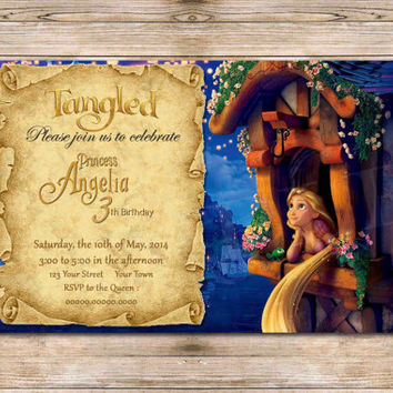 Shop rapunzel birthday party invitations on wanelo disneys tangled rapunzel birthday invitation tangled party cu filmwisefo