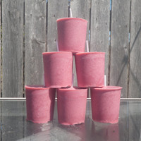 Soy votives, Pomegranate Vanilla handmade candles, Pomegranate votive