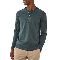 Long Sleeve Puremeso Henley Tee in Green Gables by The Normal Brand