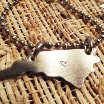 North Carolina - Home is Where the Heart is Necklace