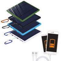 9000mAh Waterproof double USB Solar Panel Power Bank Solar Charger For Cell Phone Promotion,Newest and Hot Sale