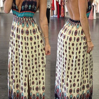 Madagascar Printed Maxi Dress