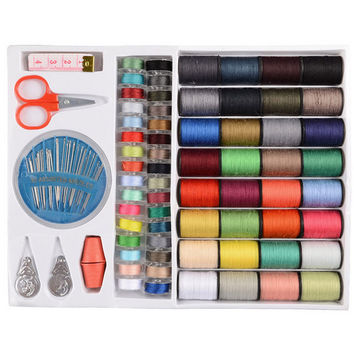New Styles Special Offer 64 Spools Assorted Colors Sewing Threads Needles Set Sewing Tools Kit
