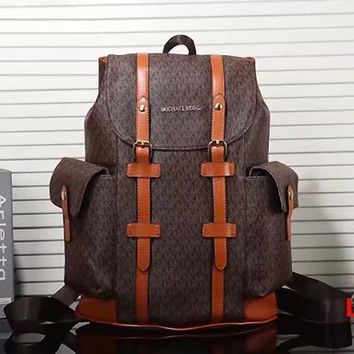 MK Fashion Leather Backpack Shoulder Bag Hiking Travel Bag