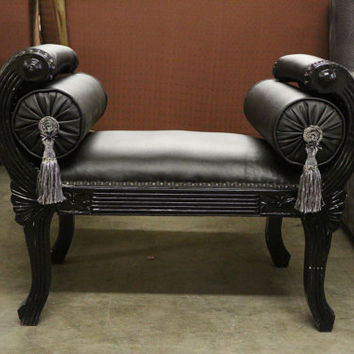 French Cleopatra Tassel Bench W/ 2 Pillows