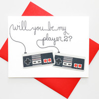 Geeky Valentine Card Video Gamer Love Card