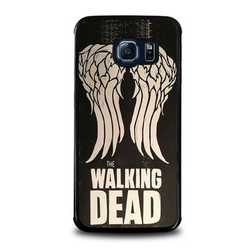 walking dead daryl dixon wings samsung galaxy s6 edge case cover  number 1