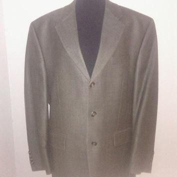 Men's Ralph Lauren Vintage Silk & Wool Suit Coat/ Blazer. Sz. 42R 2 button front. Exce