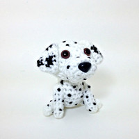 Dalmatian Stuffed Animal Crochet Dog Amigurumi Toy Plush Puppy Decor / Made to Order