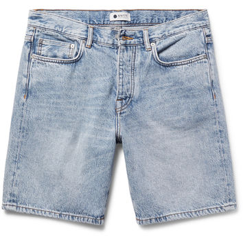 NN07 - Washed-Denim Shorts