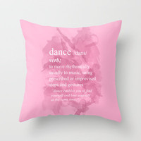 Dance Throw Pillow by Haleyivers | Society6