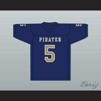 Rakeem Boyd 5 Independence Community College Pirates Dark Blue Football Jersey