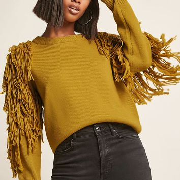 Fringe Raglan Sweater