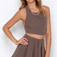 Do a Double Take Taupe Two-Piece Set