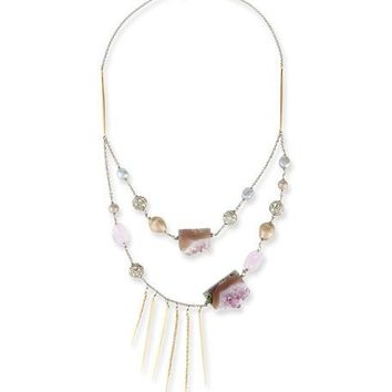 Alexis Bittar Two-Strand Crystal Bib Necklace, Purple