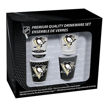 Pittsburgh Penguins 4-Pack Shot Glass Set, Size: One Size (Png Team)