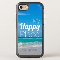 My Happy Place Beautiful Beach OtterBox Symmetry iPhone 8/7 Case