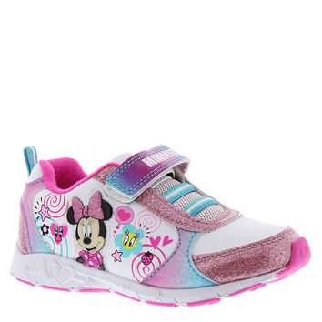Disney Minnie Mouse Girls Toddler Sneaker Velcro Sparkle Light Up White/Pink 10 Toddler M '