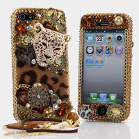 Swarovski Crystal Bling Phone Case  Leopard by GlitzedOut on Etsy