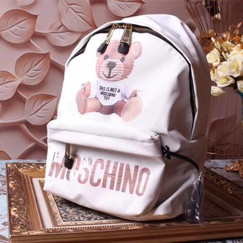 Moschino Teddy Beer Leather Backpack Bag #42331 - Best Deal Online
