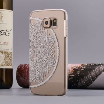 For Samsung Galaxy S6 Henna Mandala Floral Dream Catcher Case Cover