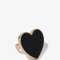 Lacquered Heart Ring