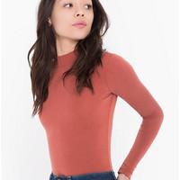 Brushed Jersey Turtleneck Top | American Apparel