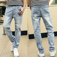 Light Blue Men Slim Fit Denim Jeans