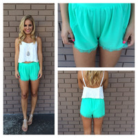 Mint Tulip Shorts
