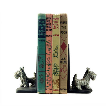 Winnie the Pooh Lot of Four Vintage Books 1950s First Thus A A Milne Collectible Children's Fiction Classic Literature Illustrated