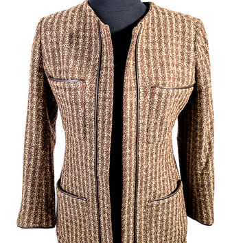 Yellow/Brown Tweed Jacket