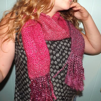 Pink/Purple Knit Scarf